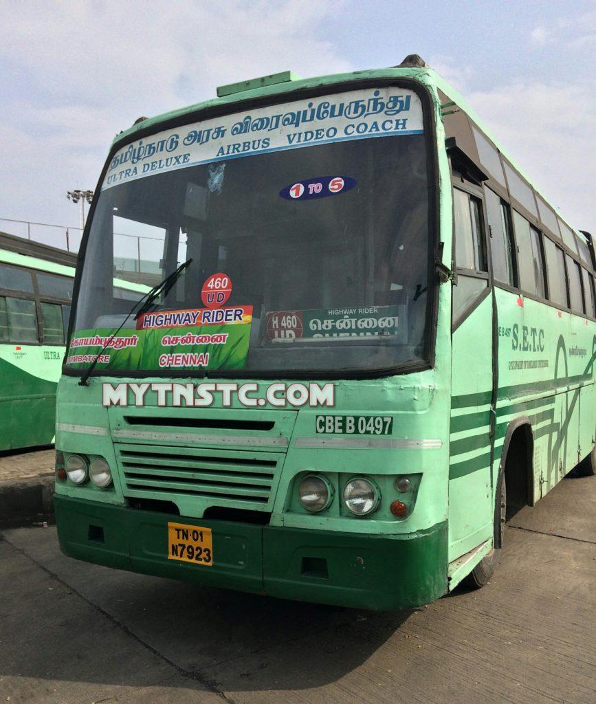 Coimbatore Attractions: TNSTC SETC Coimbatore To Chennai