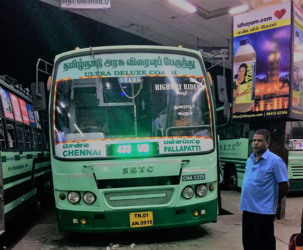 SETC Bus From Palapatti to Chennai 433 UD TN 01 AN 0916
