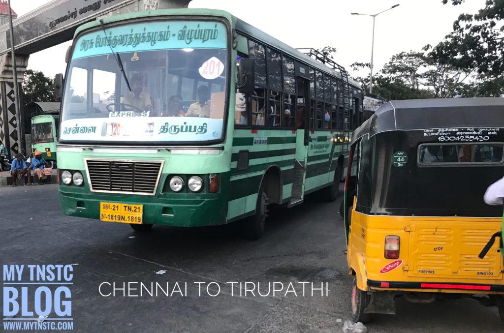 TNSTC Tirupathi to Chennai Express Service TN 21 N 1819