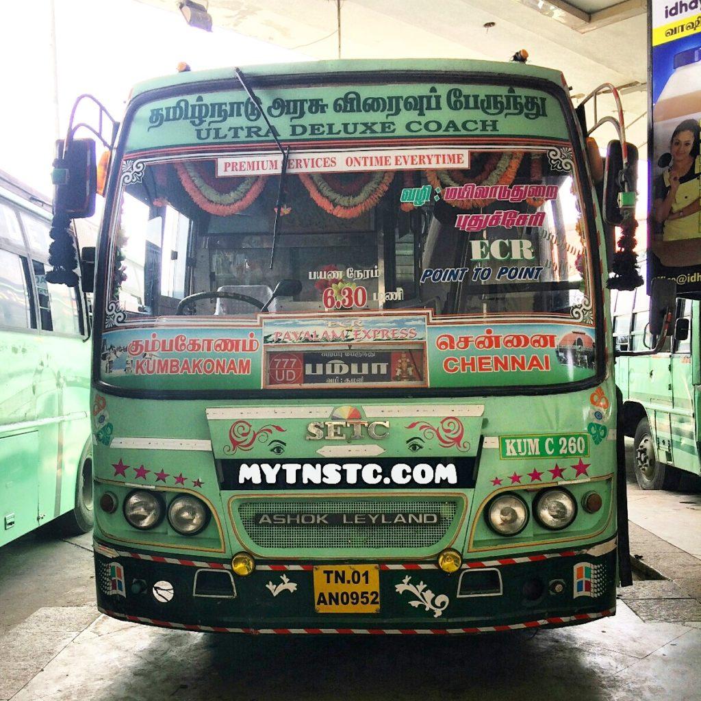 Pondicherry Puducherry Pampa SETC Bus Timings
